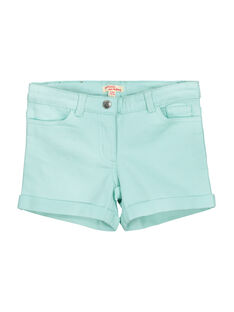 Short turquoise fille FAJOSHORT4 / 19S901G3D30219