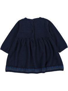 Robe manches longues bébé fille DIBLEROB3 / 18WG0993ROBC205