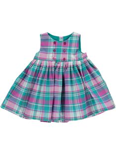 Robe à carreaux bébé fille CIDOUROB3 / 18SG09J3ROB099