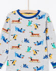 Pyjama gris chiné à motifs chiens enfant garçon MEGOPYJDOG / 21WH1235PYJJ922
