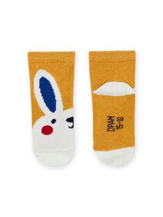 Chaussettes jaunes motif lapin bébé garçon MYUMIXCHO1 / 21WI10J2SOQ117