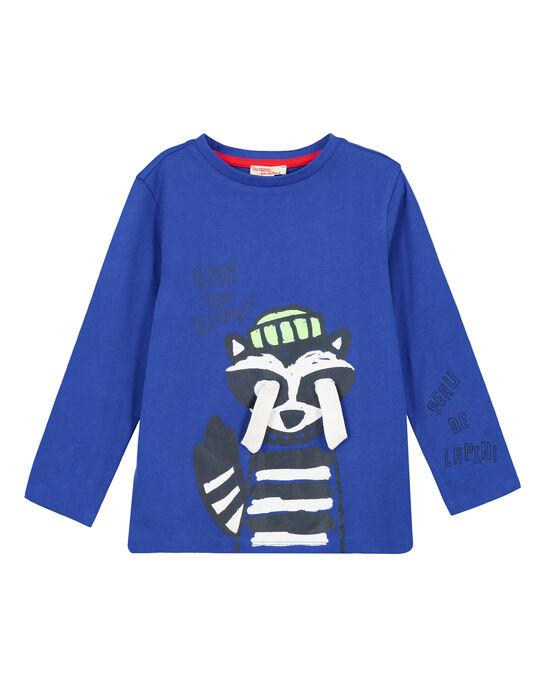 Tshirt Bleu cobalt.  GOBLATEE1 / 19W902S2TMLC209