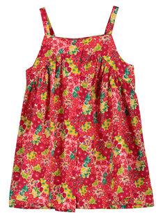 Robe légère à bretelles bébé fille FIYEROB1 / 19SG09M1ROB000