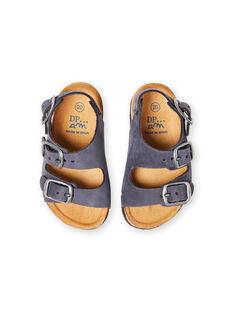 Sandales bleu marine bébé garçon LBGNUBLEU / 21KK385BD0E070