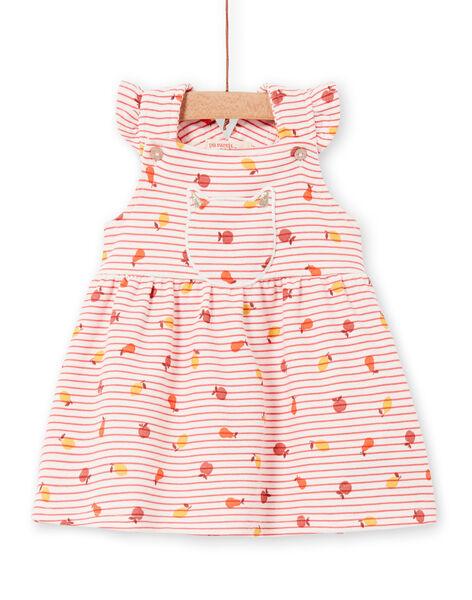 Robe rayée et imprimée bébé fille LINAUROB2 / 21SG09L1ROB318