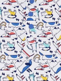 Body manches longues motif multicolor bébé garçon KULUBOD1 / 20WG10P1BOD001
