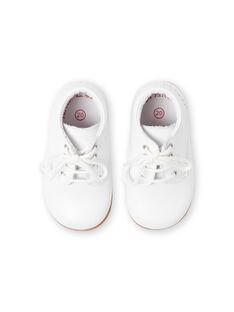 Bottines blanches bébé garçon LBGBOTIESSB / 21KK3831D0F000