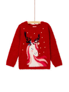 Pull en maille plume à licorne KANOPULL / 20W901Q1PULF529