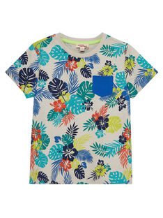 Tee shirt garçon manches courtes imprimé tropical JOMARTI6 / 20S902P1TMCI811