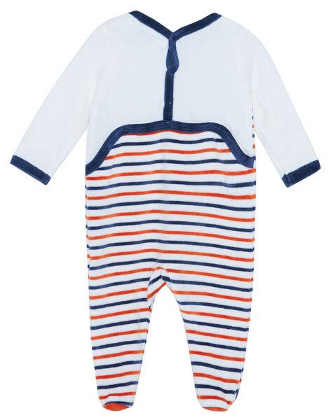 Grenouillère bébé garçon en velours JEGAGREDOG / 20SH14C1GRE001