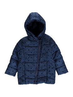 Doudoune bleu marine à capuche fille DALONDOU3 / 18W901E3D3E070