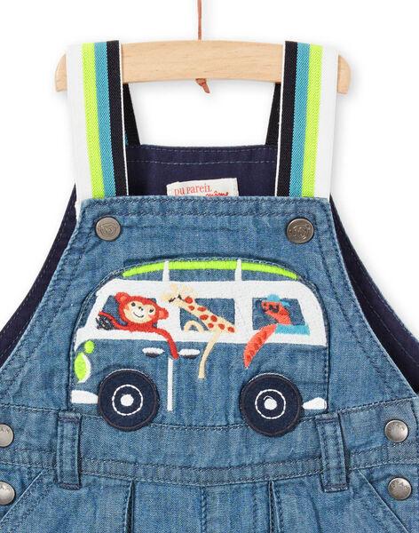 Salopette courte en jean bébé garçon LUBONSAC / 21SG10W1SACP272