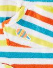 Bermuda blanc en tissu éponge à rayures bébé garçon JUMARBER / 20SG10P1BER000