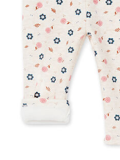 Pantalon de jogging gris bébé fille KISABAJOG / 20WG09O1JGBA011