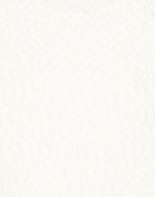 Cardigan chiné et lurex layette fille GIBLACAR / 19WG09S1CAR001