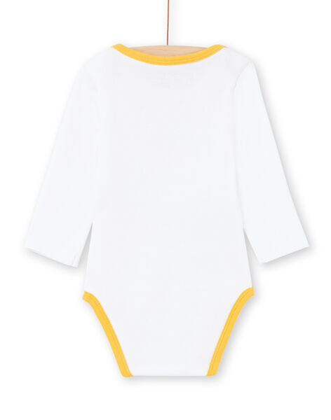 Body blanc et jaune à rayures bébé garçon MEGABODHIP / 21WH14B6BDL000