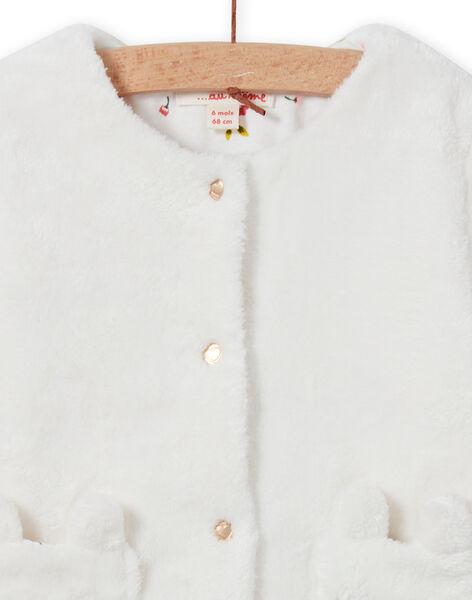 Cardigan réversible écru bébé fille MIJOCAR1 / 21WG0911CAR001