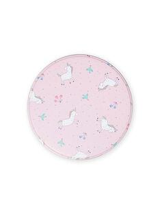 Boîte à goûter en métal rose motifs licornes enfant fille MYACLABOI / 21WI01G1D5OC205