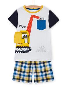 Ensemble pyjama short animation pelleteuse enfant garçon MEGOPYCTRA / 21WH1234PYJ000