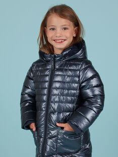 Doudoune bleu métallisé enfant fille MALONDOUN2 / 21W90162D3E070