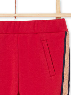 Pantalon rouge à rayures enfant fille MAJOMIL5 / 21W90114PAN511