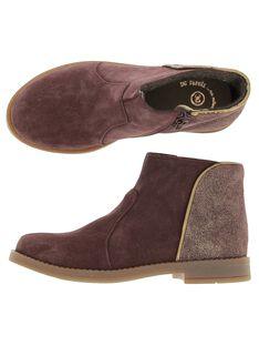 Boots en cuir fille DFBOOTMIX2 / 18WK35TED0D503