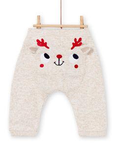 Pantalon beige double fausse fourrure bébé garçon KUNOPAN1 / 20WG10Q2PANI817