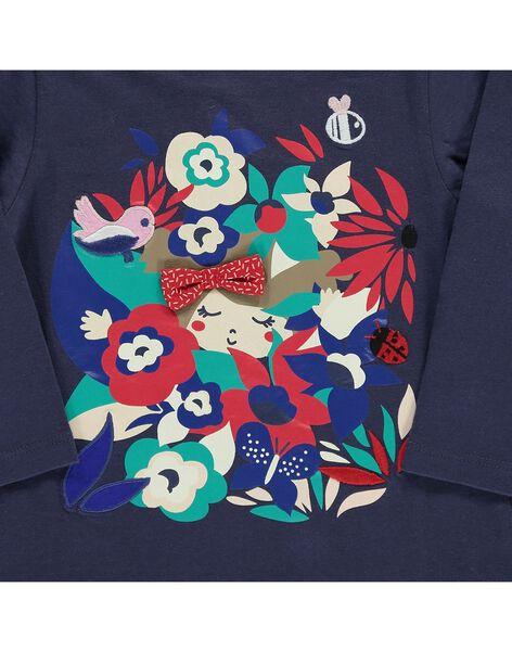 Tee-shirt manches longues bébé fille CIDETEE2 / 18SG09F2TML705