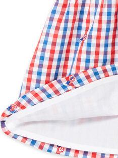 Robe chemise à carreaux bébé fille LICANROB3 / 21SG09M3ROB001