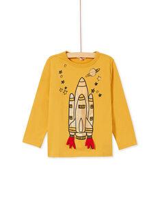 Tee-shirt manches longues jaune enfant garçon KOGOTEE2 / 20W902L4TMLB105