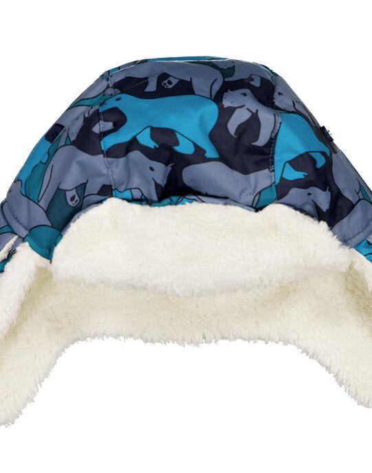 Chapka avec motif ours polaire. GYOSKICHA / 19WI02W1BON940