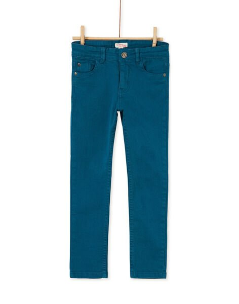 Pantalon droit turquoise enfant garçon KOJOPATWI1 / 20W90234D2B714