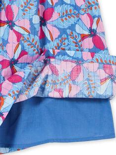 Robe manches courtes à imprimé fleurie et rayures lurex  LABLEROB2 / 21S901J1ROBC208