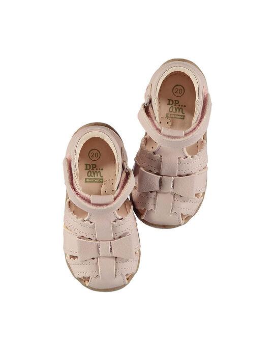 Sandale ville cuir bébé fille FBFSANDHER / 19SK37K1D0E030
