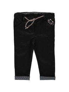 Pantalon noir bébé fille CIBENPAN1 / 18SG09G1PAN090