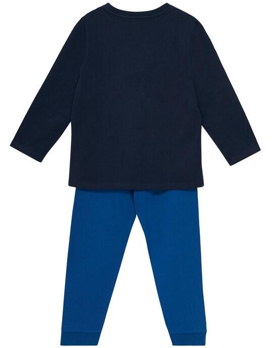 Pyjama en jersey bleu nuit enfant garçon JEGOPYJSIN / 20SH1222PYJ705
