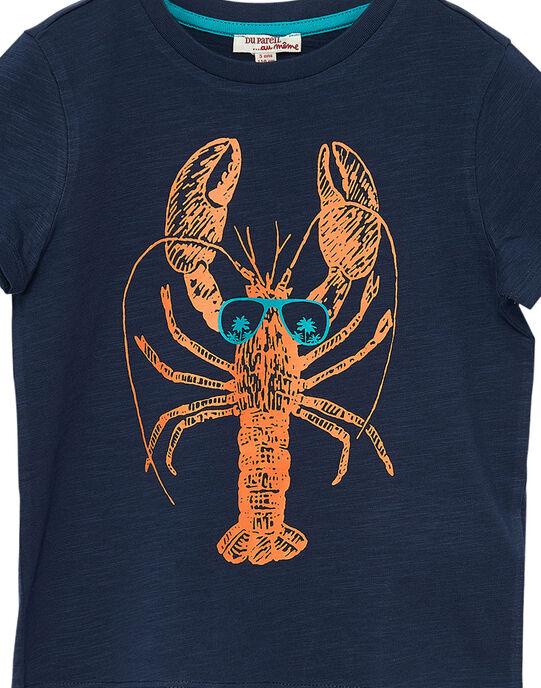 Tee shirt garçon manches courtes marine homard JOJOTI6 / 20S90243D31705