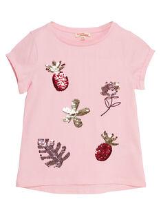 T-shirt manche courte, sequins magique fruit et fleur  JADUTI1 / 20S901O1TMC321