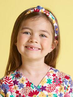 Serre-tête à imprimé fleuri enfant fille MYAJOSERR2 / 21WI01S1TET009