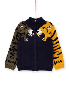Gilet marine en tricot enfant garçon KOBRIGIL2 / 20W902F1GILC204