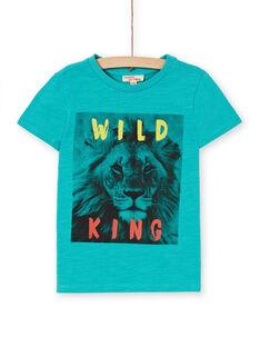 Tee Shirt Manches Courtes Bleu LOJOTI3 / 21S90231TMCC215