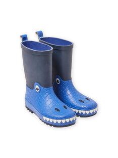 Bottes de pluie bleu marine motif dragon enfant garçon MOPLUIDRAGO / 21XK3612D0C070