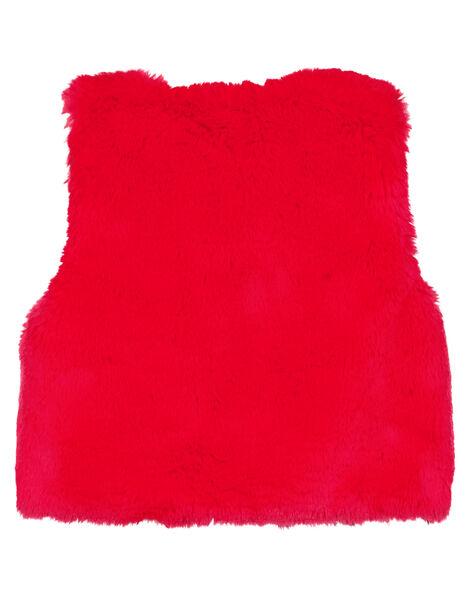 Cardigan reversible en fausse fourrure layette fille GINOCAR / 19WG09V1CARF521