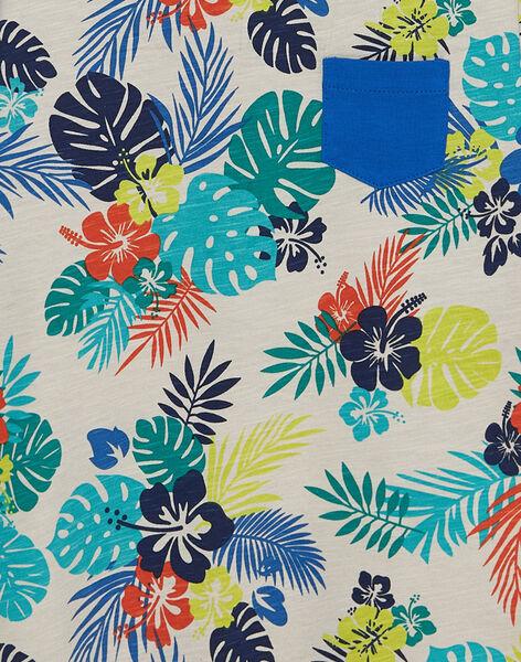 T-shirt manches courtes imprimé tropical enfant garçon JOMARTI6 / 20S902P1TMCI811