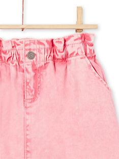 Jupe en jean rose enfant fille MAKAJUP1 / 21W901I1JUPD305