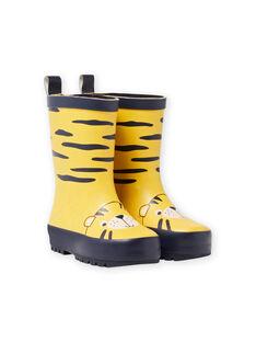 Bottes de pluie à motifs tigré MUPLUITIGRE / 21XK3813D0C010