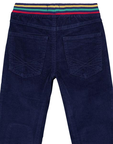 Pantalon en velours Ceinture en Bord côtes GOMUPAN2 / 19W902F1PAN070