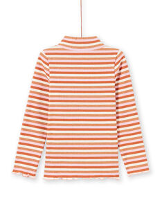 Sous-pull manches longues à rayures colorées enfant fille MACOMSOUP / 21W901L1SPL420