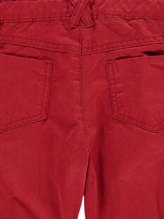 Pantalon rouge bébé garçon DUTRIPAN2 / 18WG10D2PAN510