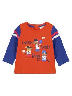 Tee Shirt Manches Longues Orange GUSANTEE1 / 19WG10C3TML406